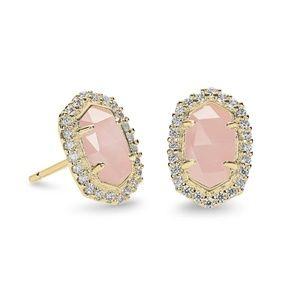 Kendra Scott Cade Studs Earrings Gold pink Quartz